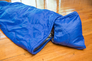 girl in sleeping bag for camping, Camping Equipment