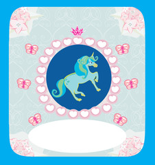 beautiful Unicorn card