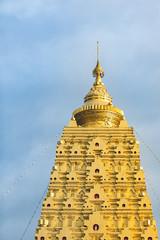 Golden Pagoda at Sangklaburi , Kanchanaburi Province,Thailand.