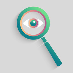 Magnifier search for vision