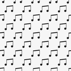 Music vector seamless pattern