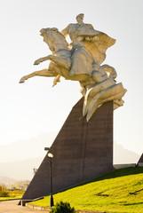 Statue of the general Pliyev. Vladikavkaz, North Ossetia