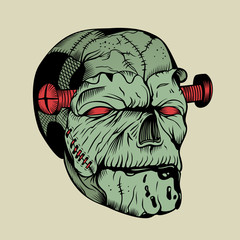 It is a zombie head.
