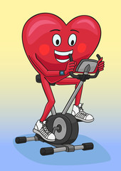 Exercise bike.