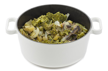 Cooking Pot with Vegetables