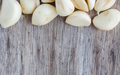 peeled garlic background