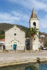 Church of Saint Roch. Donja Lastva village,Montenegro