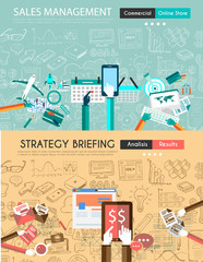 Business Strategy Design Elements for printed material and web