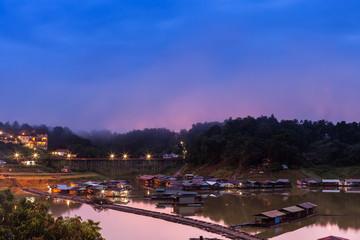 Morning day at Sangkhlaburi, Kanchanaburi Thailand