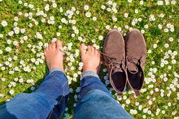 Break on a flower field