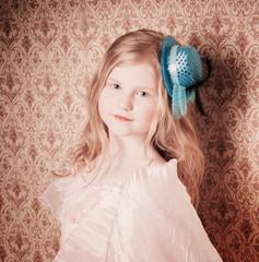 little girl on background wallpaper