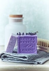 Still Life with Lavender Soaps