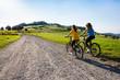 Zdjęcia na płótnie, fototapety, obrazy : Healthy lifestyle - young women biking