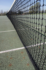 Tennis Court in close up