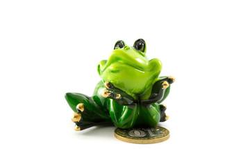 stone frog figurine