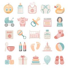Flat Icons - Baby