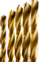 Drill bit metal bronze color