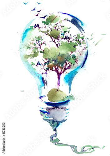Leinwanddruck Bild nature and civilization
