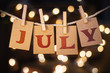 July Concept Clipped Cards and Lights - 81735081