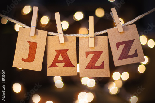 Poster Jazz Concept Clipped Cards and Lights
