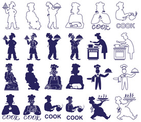 cook icons on white