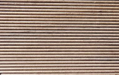 Wooden dark brown grooves panel