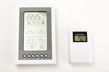 Modern home weather station isolated