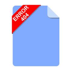 Icono documento texto ERROR 404