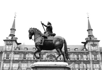 old horse statue