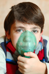 boy with electric inhaler as a curation against virul disease fl