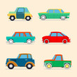Retro cars  set . - 81738694