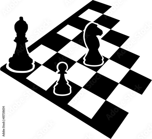 Chessboard with chess icons - 81738654