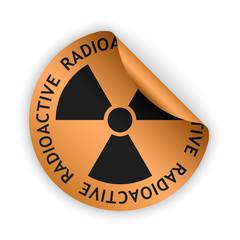 vector radioactive bent sticker