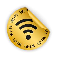 vector wifi bent sticker