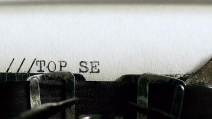 Typing TOP SECRET