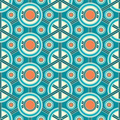 abstract lattice on a blue background