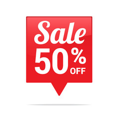 Sale 50% Off Tag