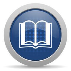 book blue glossy web icon