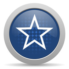 star blue glossy web icon