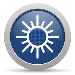sun blue glossy web icon