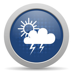 storm blue glossy web icon