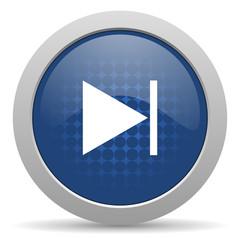 next blue glossy web icon