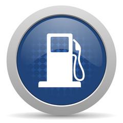 petrol blue glossy web icon
