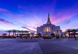 Leinwanddruck Bild - Mormon Temple in Gilbert Arizona