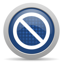 access denied blue glossy web icon