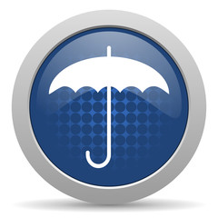 umbrella blue glossy web icon