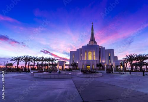 Leinwanddruck Bild Mormon Temple in Gilbert Arizona