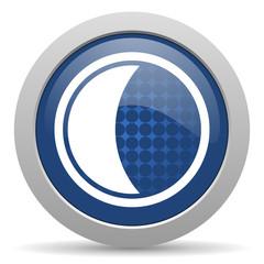 moon blue glossy web icon