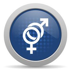sex blue glossy web icon