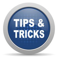 tips tricks blue glossy web icon